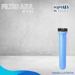 """FILTRO AZUL DE 20"""" X ¾"""""""